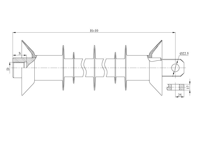 Изоляторы фиксаторные птицезащищенные репеллентные с повышенной электрической прочностью ФСПКр  на напряжение 25 кВ