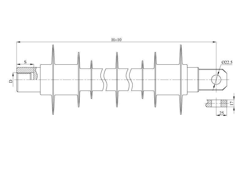 Изоляторы фиксаторные птицезащищенные репеллентные ФСПКр на напряжение 3 кВ
