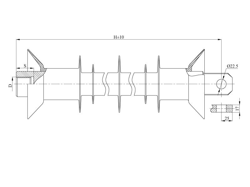 Изоляторы фиксаторные птицезащищенные репеллентные с повышенной электрической прочностью ФСПКр  на напряжение 3 кВ