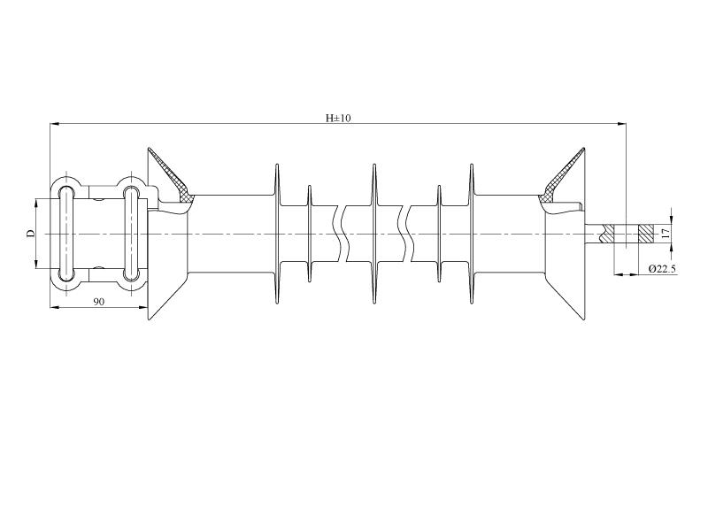 Изоляторы консольные птицезащищенные репеллентные с повышенной электрической прочностью КСПКр  на напряжение 25 кВ