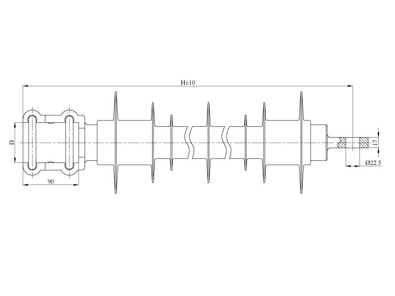 Изоляторы консольные птицезащищенные репеллентные КСПКр на напряжение 3 кВ