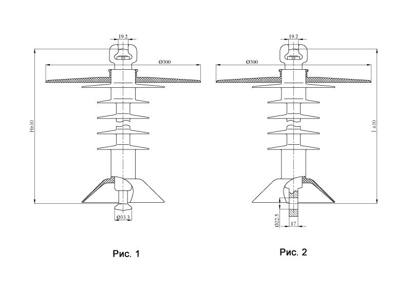 Изоляторы подвесные птицезащищенные репеллентные с повышенной электрической прочностью  с птицезащитным экраном ПСПКр на напряжение 3 кВ