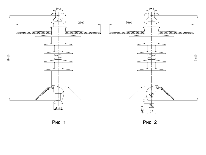 Изоляторы подвесные птицезащищенные репеллентные с повышенной электрической прочностью  с птицезащитным экраном ПСПКр на напряжение 25 кВ