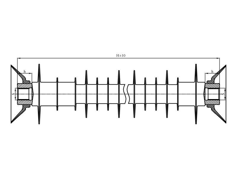Изоляторы фиксаторные ФСПКр на напряжение 25 кВ с длиной пути утечки 1,3 и 1,5 м