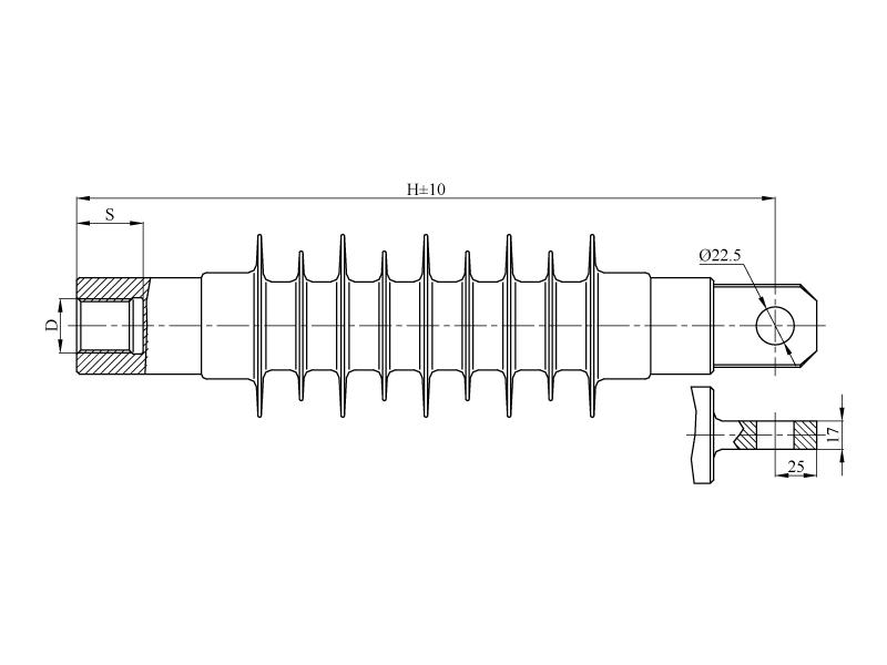 Изоляторы фиксаторные ФСПКр на напряжение 3 кВ
