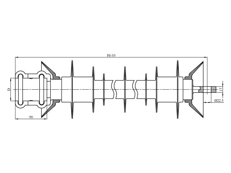 Изоляторы консольные КСПКр на напряжение 25 кВ
