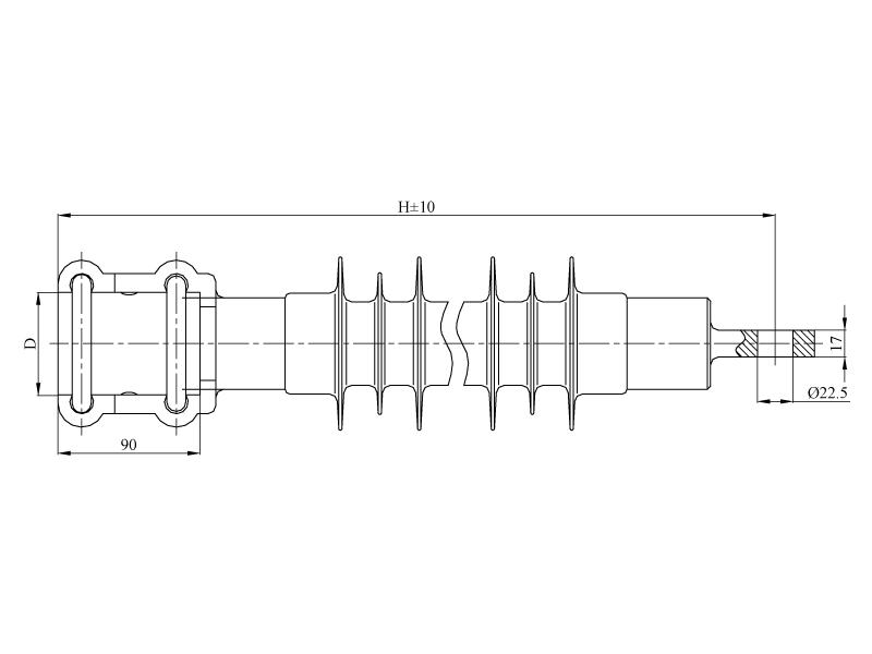 Изоляторы консольные КСПКр на напряжение 3 кВ