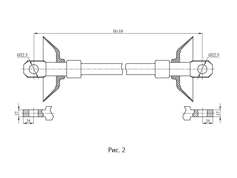 Изоляторы натяжные гладкостержневые НСПК на напряжение 25 кВ
