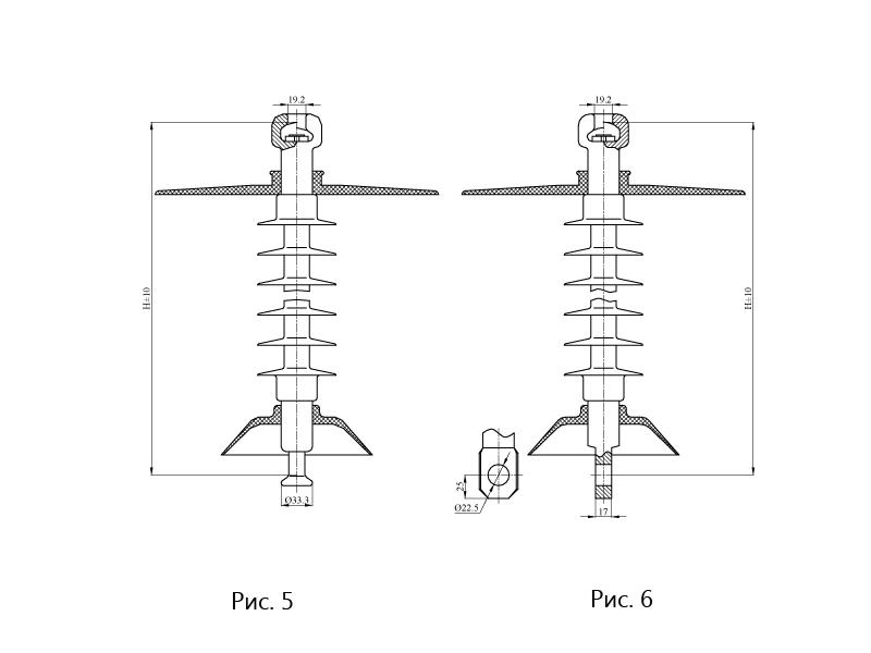 Изоляторы подвесные ПСПКр на напряжение 25 кВ