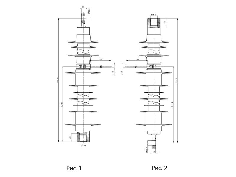 Изоляторы фиксаторные ФСПКр с нейтральной вставкой на напряжение 25 кВ