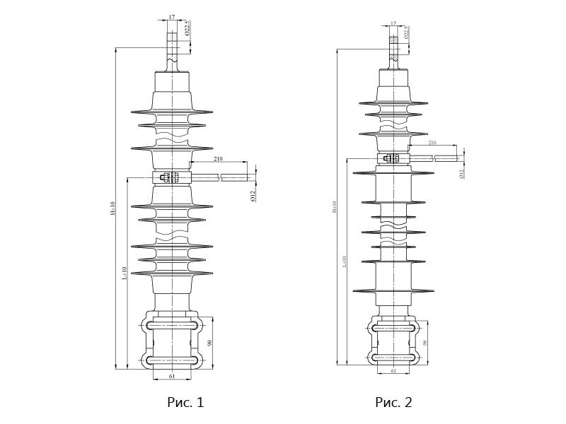 Изоляторы консольные КСПКр с нейтральной вставкой на напряжение 3 и 25 кВ