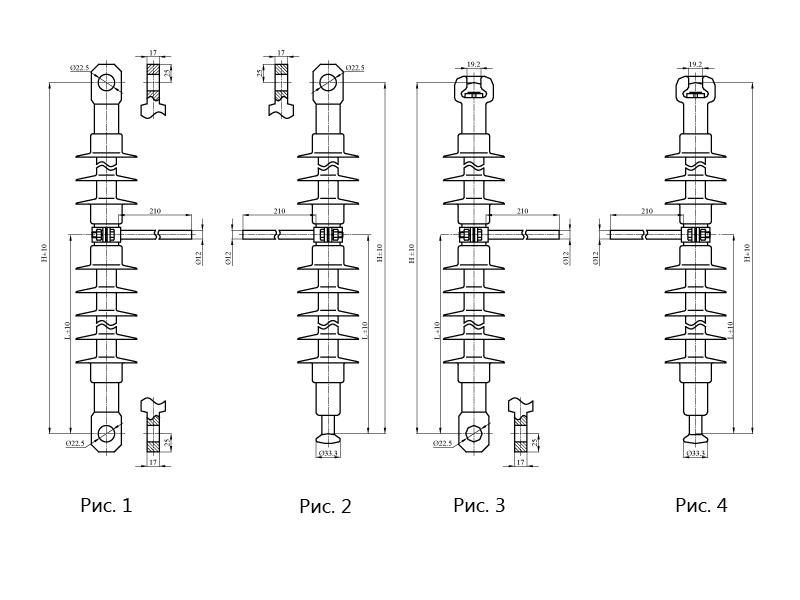 Изоляторы подвесные ребристые ПСПКр с нейтральной вставкой на напряжение 3 и 25 кВ